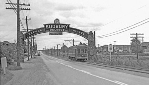 sudbury #32 Westbound on Lorne at Arch Frank Butts